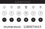 album icons set. collection of...