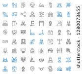 people icons set. collection of ... | Shutterstock .eps vector #1280073655