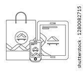 corporate merchandise elements... | Shutterstock .eps vector #1280082715