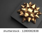 black gift box on a dark... | Shutterstock . vector #1280082838