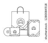 corporate merchandise elements... | Shutterstock .eps vector #1280084518