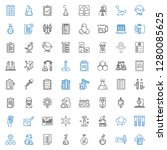 test icons set. collection of... | Shutterstock .eps vector #1280085625