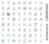 frozen icons set. collection of ... | Shutterstock .eps vector #1280085682
