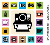 camera and video icons set ... | Shutterstock .eps vector #128009258