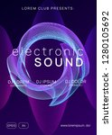 dance flyer. dynamic gradient... | Shutterstock .eps vector #1280105692