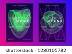 electro event. geometric show... | Shutterstock .eps vector #1280105782