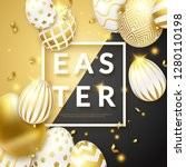 easter black and gold... | Shutterstock .eps vector #1280110198