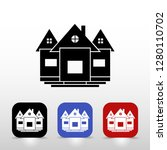 set of colored house icons  ... | Shutterstock .eps vector #1280110702