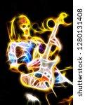 Abstract Of A Flaming Phantom...