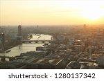 london sundown panorama view   Shutterstock . vector #1280137342