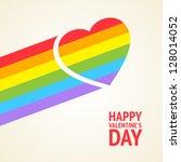 rainbow heart. vector... | Shutterstock .eps vector #128014052