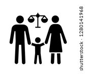 family court glyph icon.... | Shutterstock .eps vector #1280141968