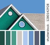 the colour houses of the... | Shutterstock . vector #1280142928