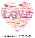love is mean this words  it's... | Shutterstock .eps vector #128015672