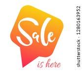 illustration  sale lettering.... | Shutterstock . vector #1280163952