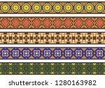 set of five illustrated... | Shutterstock .eps vector #1280163982