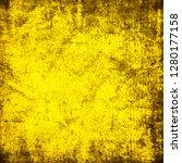 yellow grunge background | Shutterstock . vector #1280177158