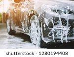 Outdoor Car Wash With Foam Soa...