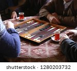 People Playing Backgammon.turkey
