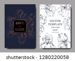 vector iris floral botanical... | Shutterstock .eps vector #1280220058