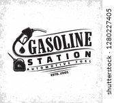 vintage petrol station logo...   Shutterstock .eps vector #1280227405