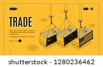 international trade company ... | Shutterstock .eps vector #1280236462