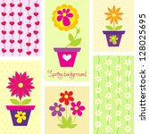 beautiful spring background... | Shutterstock .eps vector #128025695