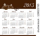 calendar 2013 with coffee design | Shutterstock .eps vector #128025785