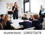 female primary school teacher... | Shutterstock . vector #1280272678