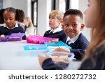 smiling primary school kids...   Shutterstock . vector #1280272732
