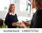 schoolgirl at a primary school... | Shutterstock . vector #1280272762