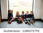 five primary school friends... | Shutterstock . vector #1280272792