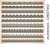 set of doodle elements.... | Shutterstock .eps vector #128027642