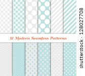 jumbo polka dot  gingham and... | Shutterstock .eps vector #128027708