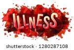 illness word  vector creative...   Shutterstock .eps vector #1280287108