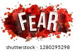 fear word  vector creative... | Shutterstock .eps vector #1280295298