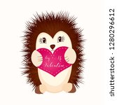 valentine's day romantic gift... | Shutterstock .eps vector #1280296612