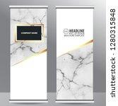 roll up business brochure flyer ... | Shutterstock .eps vector #1280315848