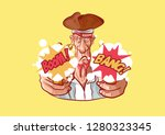 vector illustration cartoon... | Shutterstock .eps vector #1280323345