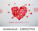 abstract heart shape vector... | Shutterstock .eps vector #1280327932