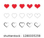 different kind of hearts | Shutterstock .eps vector #1280335258