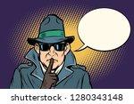 Spy Shhh Gesture Man Silence...