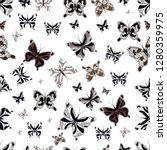 abstract seamless butterfly... | Shutterstock .eps vector #1280359975