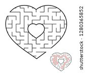 abstract heart shaped labyrinth.... | Shutterstock .eps vector #1280365852