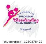 logo for cheerleading... | Shutterstock .eps vector #1280378422