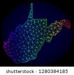 spectrum colored mesh vector... | Shutterstock .eps vector #1280384185