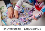 hands of unrecognizable little... | Shutterstock . vector #1280388478
