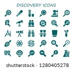 discovery icon set. 30 filled...   Shutterstock .eps vector #1280405278