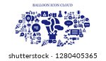 balloon icon set. 93 filled... | Shutterstock .eps vector #1280405365