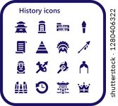 history icon set. 16 filled... | Shutterstock .eps vector #1280406322